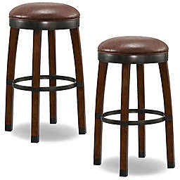 Leick Home Cask Stave Bar Stools in Brown(Set of 2)