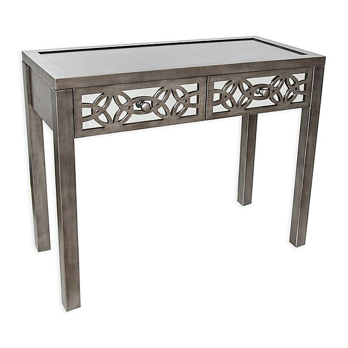Alternate image 1 for River of Goods Glam Slam 2-Drawer Mirrored Console Table