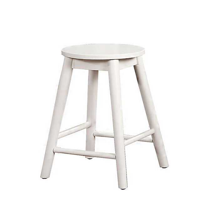 Alternate image 1 for Denville Backless Counter Stool in White