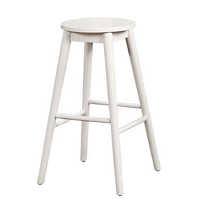 Strange Denville 29 Inch Backless Bar Stool In White Bed Bath Beyond Gmtry Best Dining Table And Chair Ideas Images Gmtryco