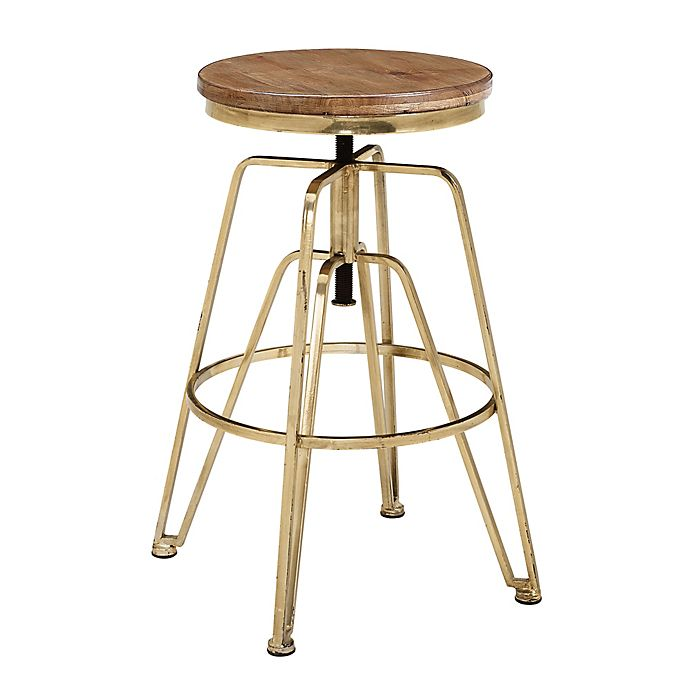 Alternate image 1 for Linon Home Wood and Metal Adjustable Stool