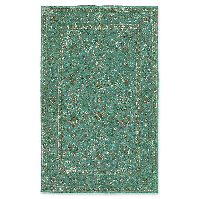 Alternate image 1 for Kaleen Weathered Khobar Indoor/Outdoor 5-Foot x 7-Foot 6-Inch Area Rug in Turquoise
