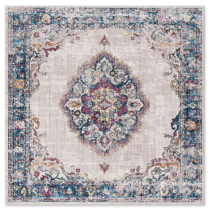 Alternate image 1 for Safavieh Bristol Bella 7-Foot Square Area Rug in Light Grey