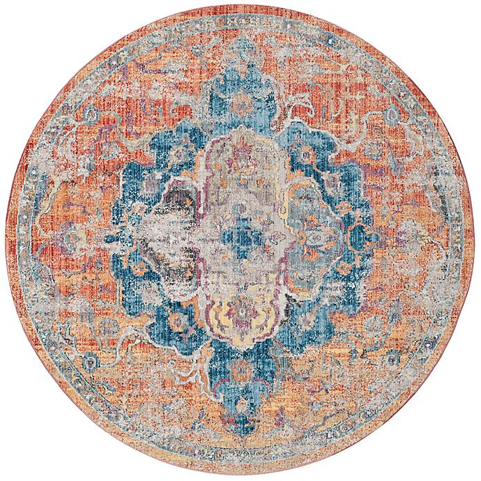 Alternate image 1 for Safavieh Bristol Olivia 7-Foot Round Area Rug in Orange