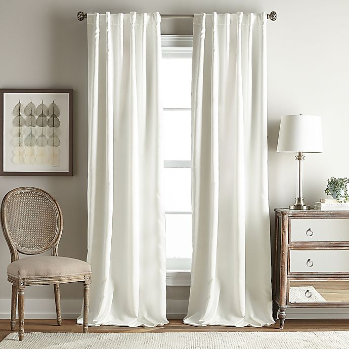 Alternate image 1 for Simone 63-Inch Rod Pocket/Back Tab Room Darkening Window Curtain Panel in Ivory