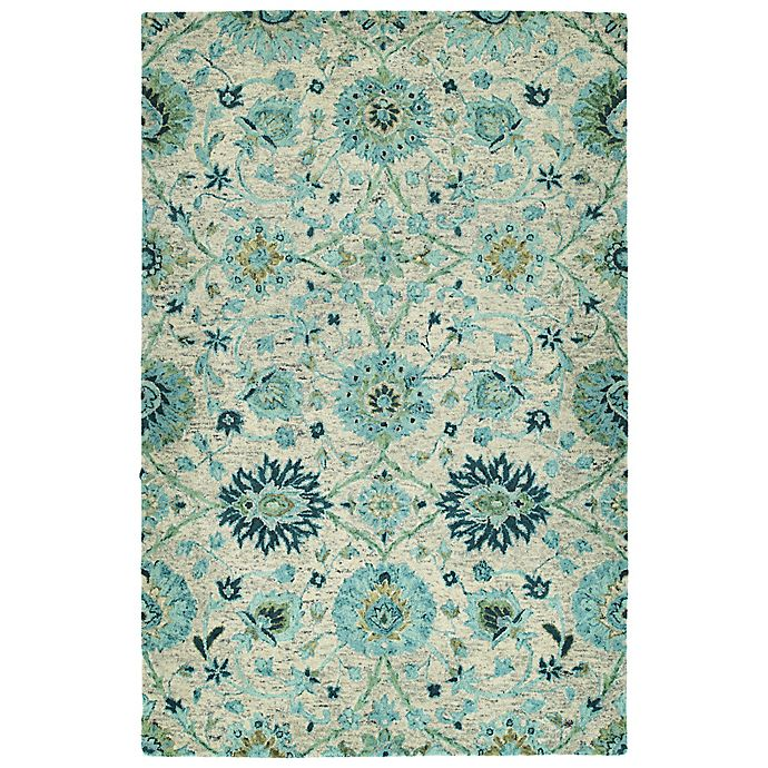 Alternate image 1 for Kaleen Agra 2' x 3' Handwoven Accent Rug in Turquoise