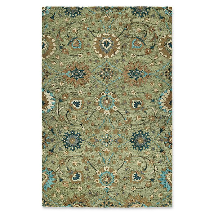 Alternate image 1 for Kaleen Agra 9' x 12' Handwoven Area Rug in Sage