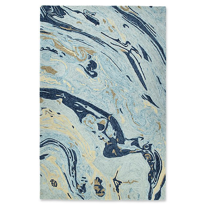 Alternate image 1 for Kaleen Marble Orbit 5-Foot x 7-Foot 9-Inch Area Rug in Blue