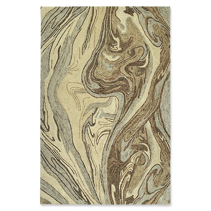 Alternate image 1 for Kaleen Marble Topography 9'6 x 13' Area Rug in Sand