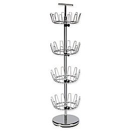 Household Essentials® 4-Tier Revolving Shoe Tree in Chrome
