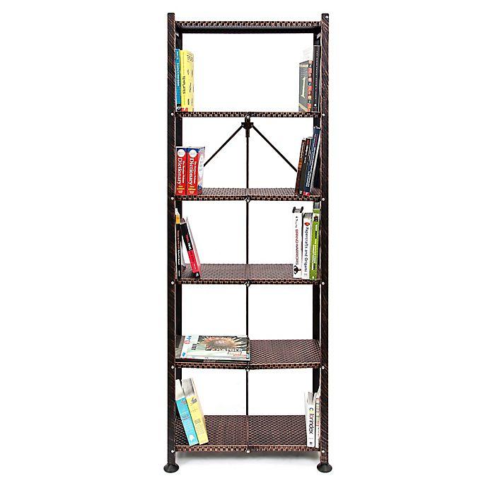 Origami General Purpose Foldable 4-Shelf Storage Rack with Wheels ... | 690x690