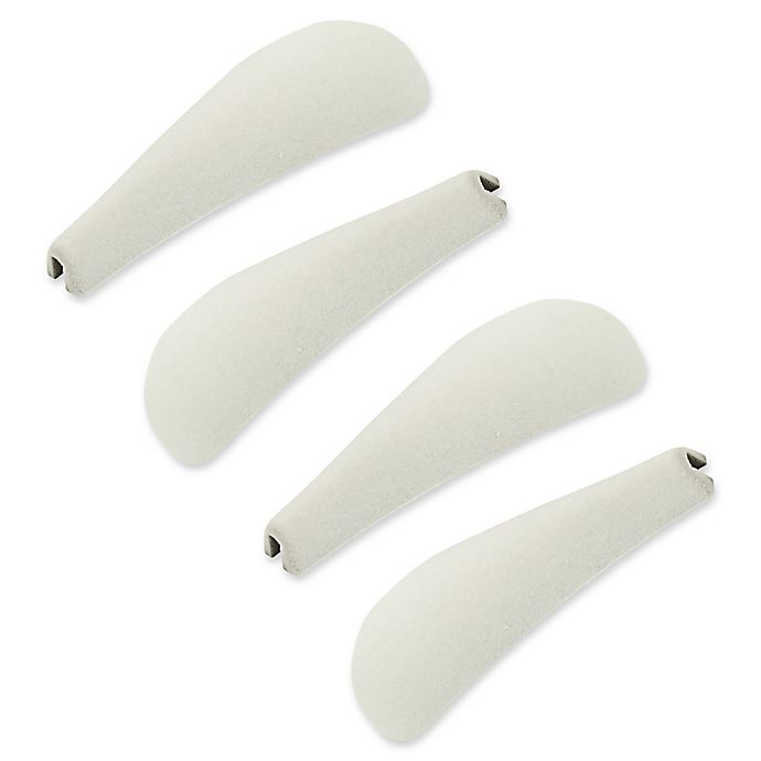 Alternate image 1 for Real Simple® Flocked Clip-On Shoulder Shapers (Set of 4)