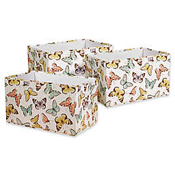 Lush Décor Fluttery Butterfly Collapsible Storage Boxes (Set of 3)