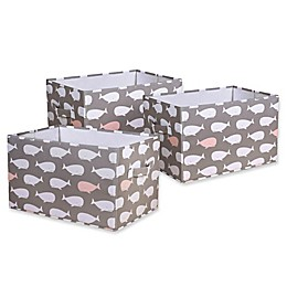 Lush Décor Pink Whale Collapsible Storage Box (Set of 3)
