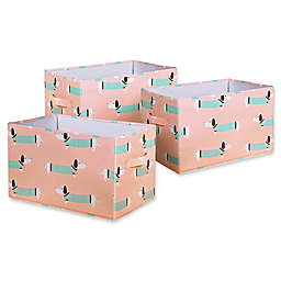 Lush Décor Sausage Dog Collapsible Storage Boxes (Set of 3)