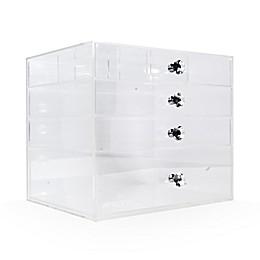Impressions Vanity Diamond Collection 4-Tier Flip Top Acrylic Organizer