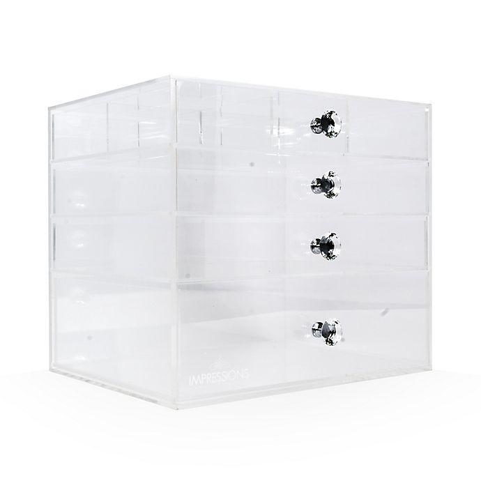 Impressions Vanity Diamond Collection 4 Tier Flip Top