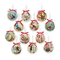 Kurt Adler 85mm Decoupage Ball Christmas Ornaments (Set of 12)