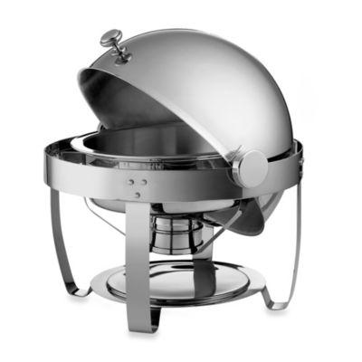Tramontina 174 6 Quart Round Stainless Steel Chafing Dish