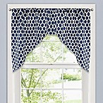 Morocco Swag Window Valance in Navy