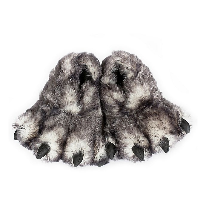 Alternate image 1 for Wishpets Wolf Paw Size Small Slippers