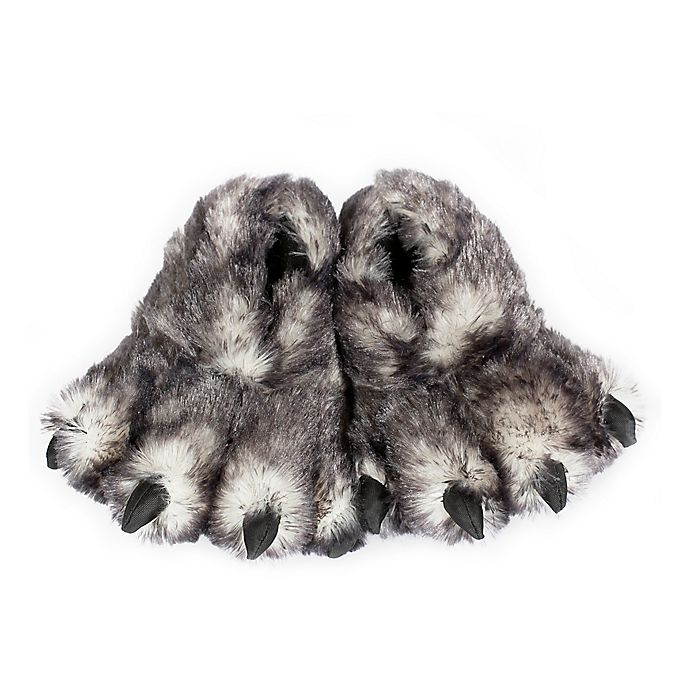 Alternate image 1 for Wishpets Wolf Paw Size Large Slippers