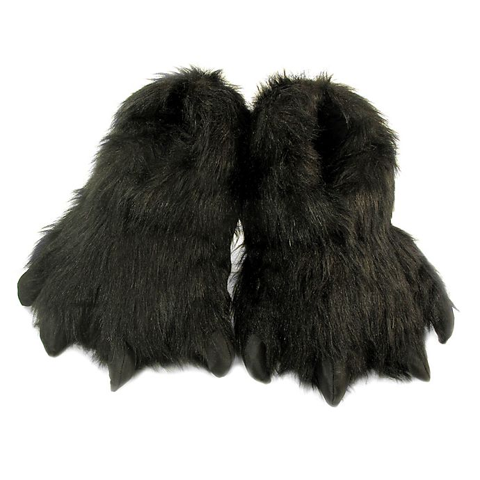 Alternate image 1 for Wishpets Furry Animal Slippers in Black