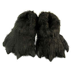 Wishpets Furry Animal Slippers in Black