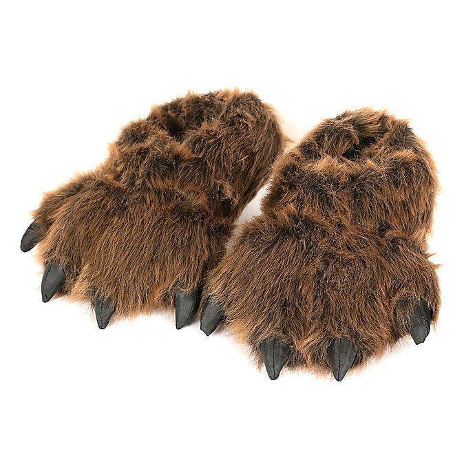 Alternate image 1 for Wishpets Furry Grizzly Bear Slippers