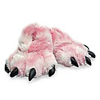 Wishpets Furry Tiger Paw Size Small Slippers in Pink
