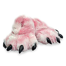 Wishpets Furry Tiger Paw Slippers in Pink