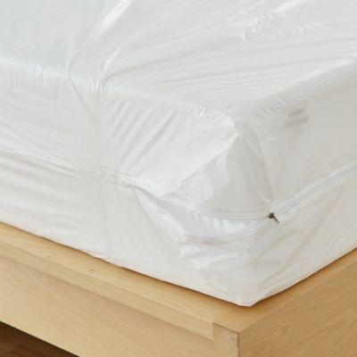 Bed Bug Mattress Cover.Bedbug Solution Vinyl Zip Mattress Box Spring Protectors Bed