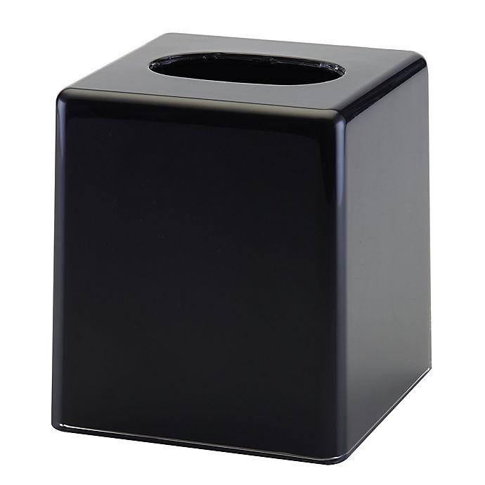 Alternate image 1 for Memphis Boutique Tissue Holder in Black