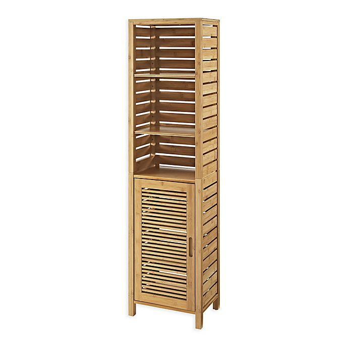 Linon Home Bracken Bamboo Tall Cabinet Bed Bath Amp Beyond