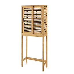 Linon Home Over the Toilet Bracken Bamboo Space Saver