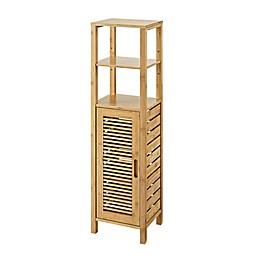 Linon Home Bracken Bamboo Mid Cabinet