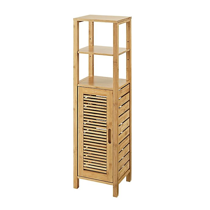 Linon Home Bracken Bamboo Mid Cabinet Bed Bath Amp Beyond