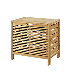Linon Home Bracken Bamboo Hamper