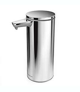 Dispensador de jabón de metal simplehuman® recargable con sensor color níquel pulido
