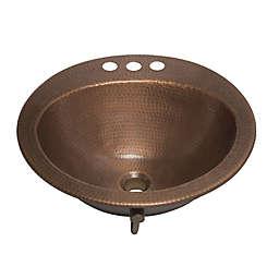 Sinkolgy SB101-19AC Bell Drop-in Copper Bath Sink