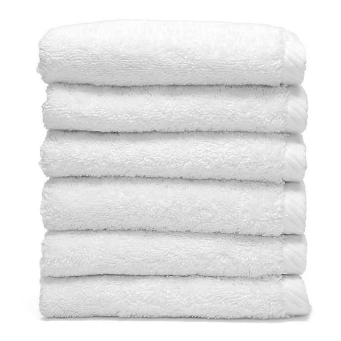 Alternate image 1 for Linum Home Textiles Soft Twist Washcloths in White (Set of 6)