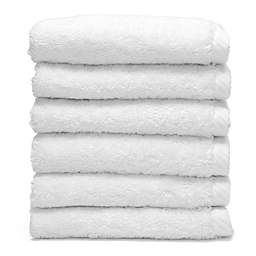 Linum Home Textiles Soft Twist Washcloths in White (Set of 6)