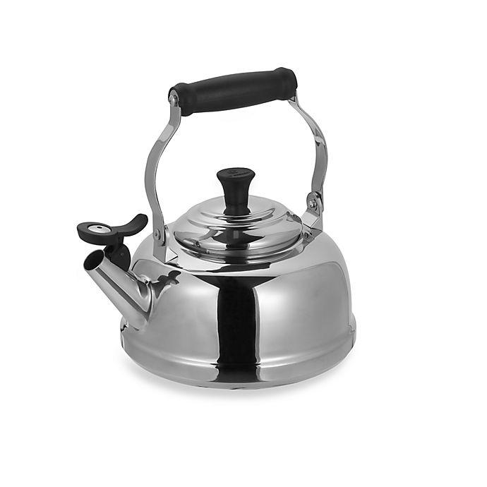 Alternate image 1 for Le Creuset® 1.8-Quart Stainless Steel Whistling Tea Kettle