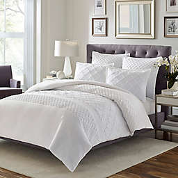 Stone Cottage Mosaic Full/Queen Comforter Set in White
