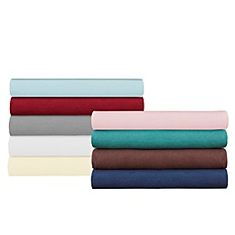 Pointehaven 175GSM Solid Flannel Twin Sheet Set