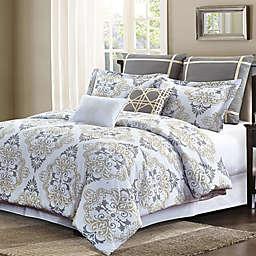 Suri King Comforter Set in Grey/Taupe