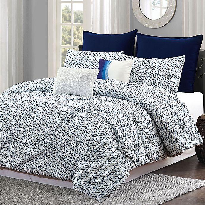 Alternate image 1 for Batik Queen Comforter Set in Blue