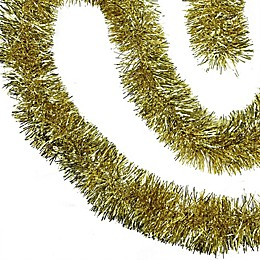 Northlight Shiny Christmas Tinsel Garland in Gold