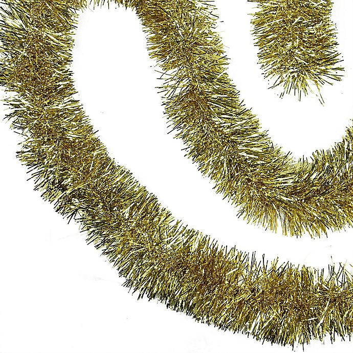 Christmas Tinsel Garland.Northlight Shiny Christmas Tinsel Garland In Gold Bed Bath