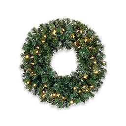 Allstate Pre-Lit 10-Inch Christmas Wreath
